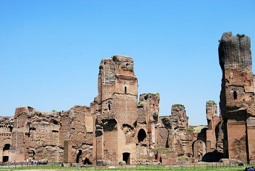 Ancient Rome, Caracalla, Terme, Rome, Italy