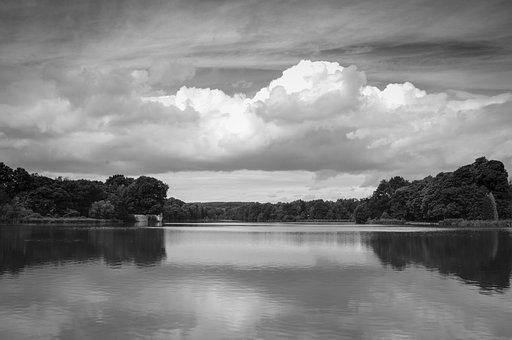 Newstead Abbey, Lake, Abbey, Landmark, Uk, Nottingham