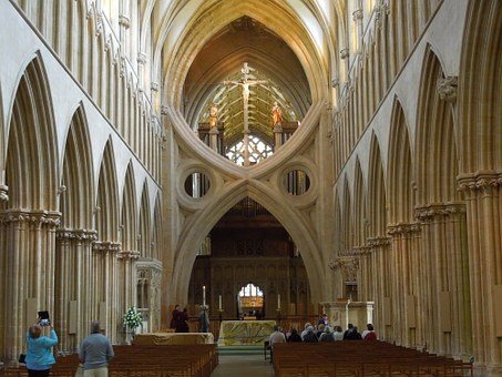 Wells, Wells Cathedral, Cathedral Of Wells, Gothic, Uk