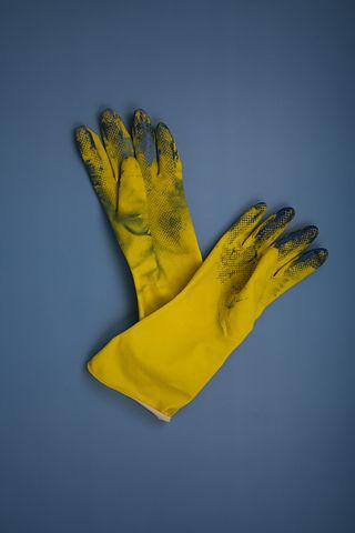 Gloves, Work, Yellow, Dirty, Protection, Hand, Working