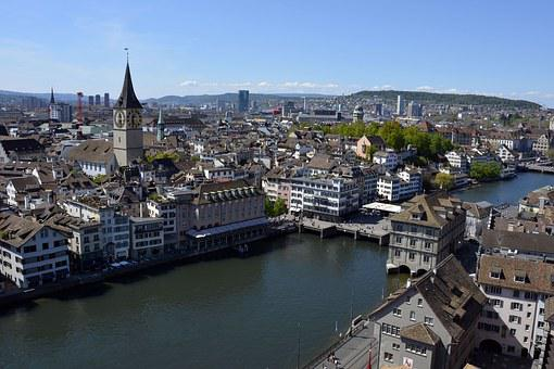 Zurich, Limmat, River, Water