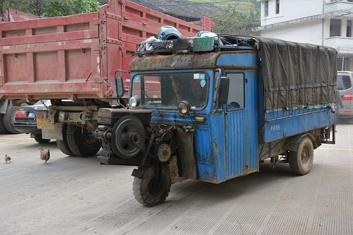 Maintenance Vehicle, China, Three Wheel, Automobile