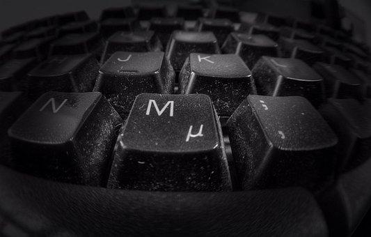 Keyboard, Keys, Black, Button, White, Computer Keyboard