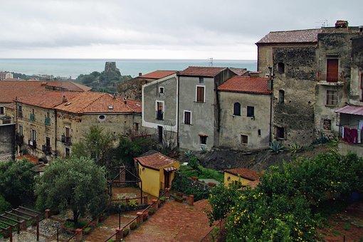 Scalea, Calabria, Italy, Borgo, Village, Old Houses
