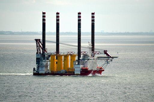 Pontoon, Buhnenbau, Working Ship, Working Platform