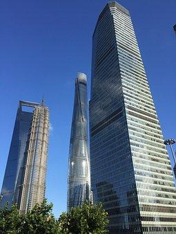 Shanghai Tower, China, Skyscrapers, Buildings