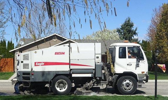 Maintenance, Street, Street Sweeper, Clean, Road