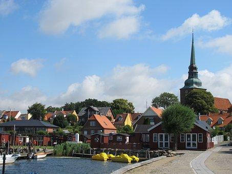 Denmark, Nysted, Port, Cottages, Porcik