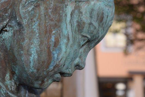 Bronze, Bronze Statue, Profile, Fig, Statue, Sculpture