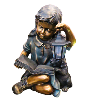 Figure, Girl, Statue, Sitting, Child, Garden