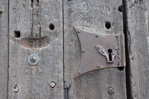 Door, Fitting, Castle, Input, Wood, Old, Old Door