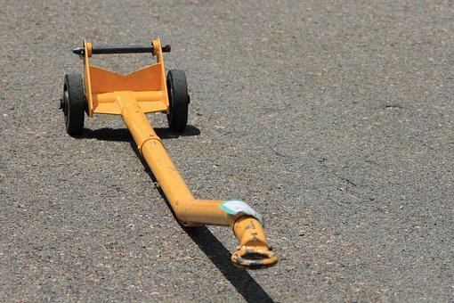 Tow Bar, Yellow, Equipment, Aviation, Flight, Outdoors