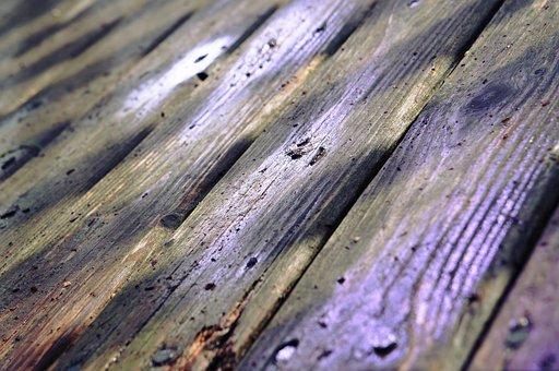 Wood, Flooring, Floor, Deck, Wooden, Wet, Slats
