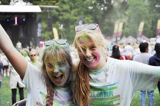 Friends, Color Run, Training, Competition, Lund