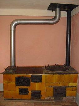 Stove, Oven, Historically, Historic Kitchen Stove