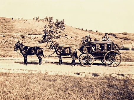 Stagecoach, Horse Cart, Western, Vintage