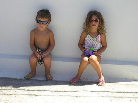 Sunny Day, Kids, Sunglasses, Summer, Little, Child