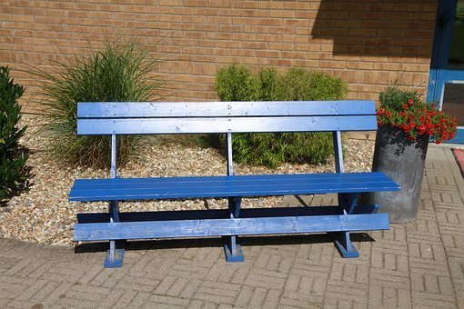 Blue Bench, Decorative Stone, Lund