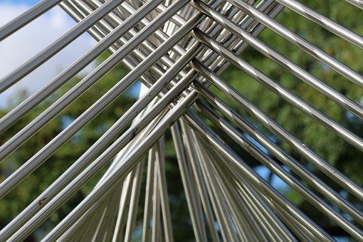 Sculpture, Art, University, Lund, Steals, Iron