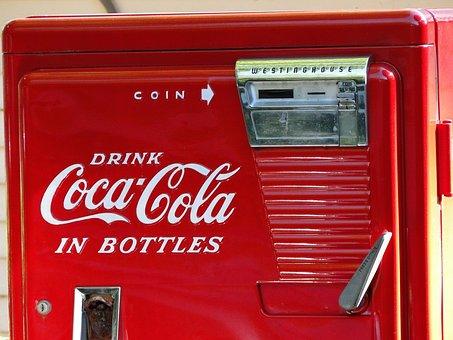 Vintage, Coke, Machine, Red, Old, Retro, Classic