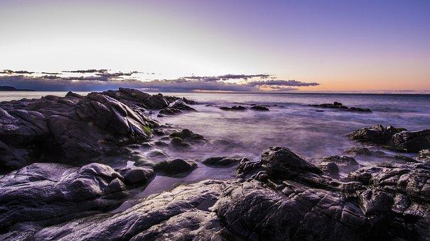 Dawn, Beach, Guilche, Nerja, Malaga, Costa Del Sol