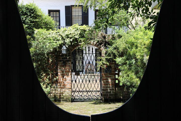 Garden, Key Hole, Green, Goal, Garden Door, Metal