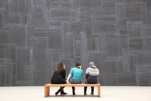 Art, Visit, Museum, Bank, Visitors