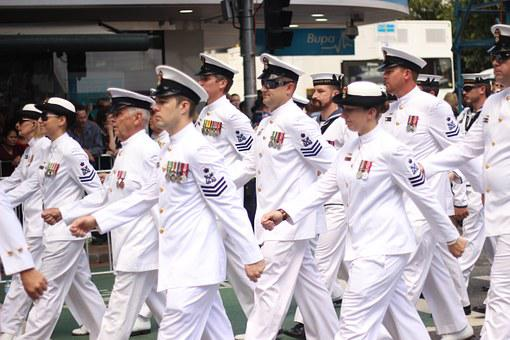 Parade, Marching, Navy, Uniform, Military, Officer