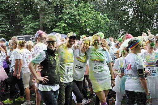 Color Run, Color, Running, Lund, People