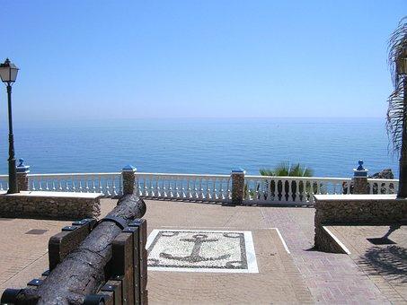 Sea View, Horizon, Blue, Sea, View, Platform