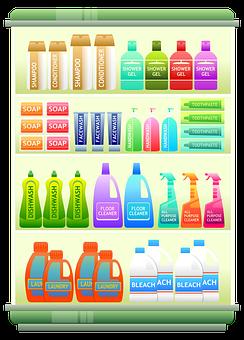 Supermarket Shelf, Products, Shampoo