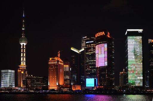 China, Pearl Tv, Skyscraper, Shanghai, Pudong, Bund