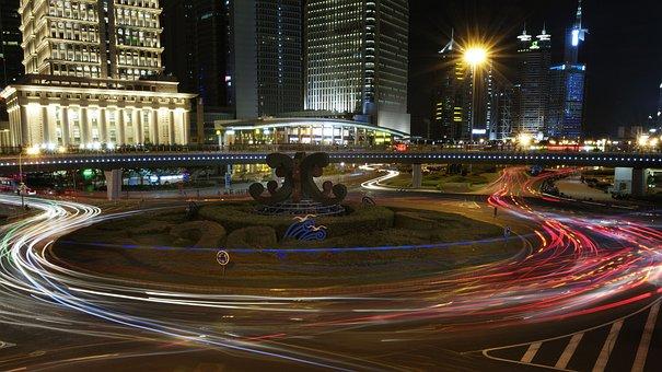 Shanghai, Pudong, Night View