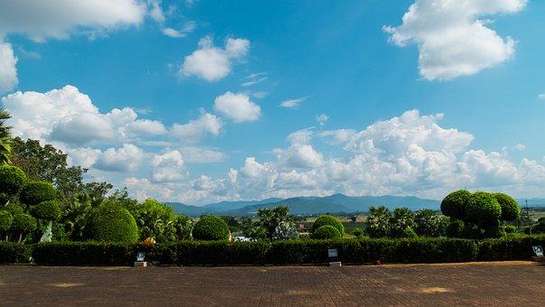 Landscape, North Thailand, Mae Teng, Clouds, Sky