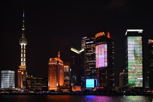 China, Pearl Tv, Skyscraper, Shanghai, Pudong, Bund
