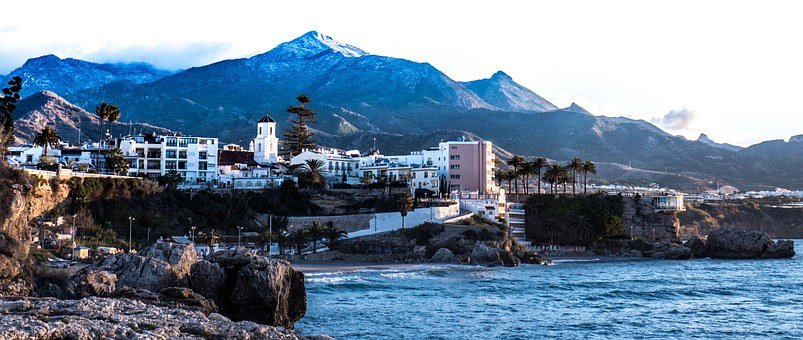 Dawn, Nerja, Snow, Mountain, Slope Of The Sky, Malaga