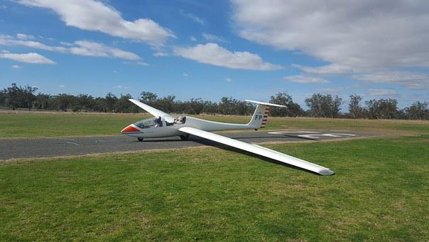 Glider, Glider Club, Takeoff, Small Plane, Aircraft