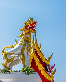 Mythical Creatures, Lion, Temple Complex, Temple