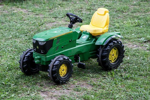 Toy Tractor, Country, Toy, Tractor, Farm, Field, Green