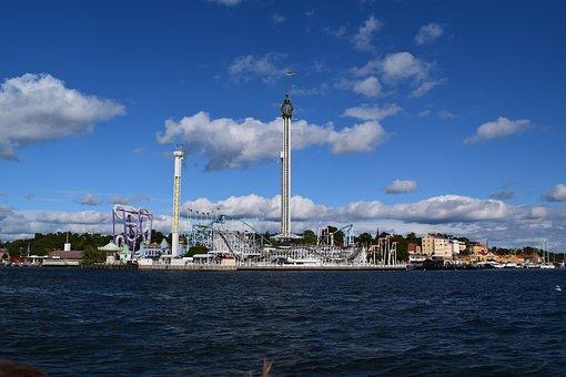 Sweden, Stockholm, Theme Park, Water, Gröna Lund, Sky