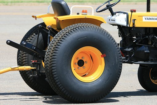 Vehicle, Heavy Duty, Tractor, Yellow, Towbar, Industry