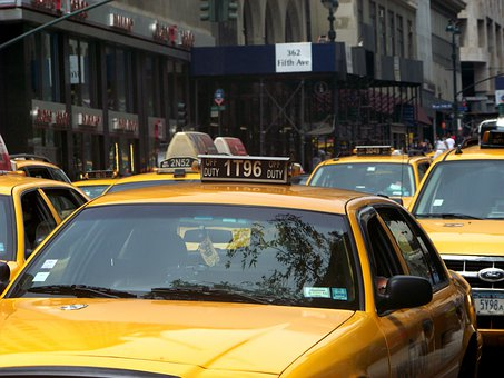 Avenue, Cab, Taxicab, Nyc, New, York, City, Yellow