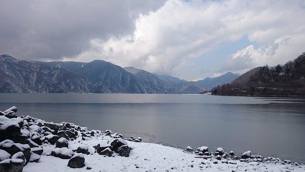 Japan, Tochigi, Lake, Snow, Lake Chuzenji, 3 Months