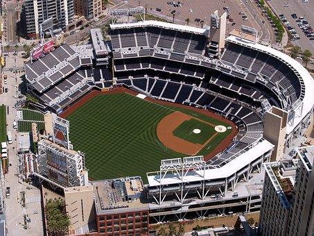 Petco Ball Park, San Diego, California, Aerial View