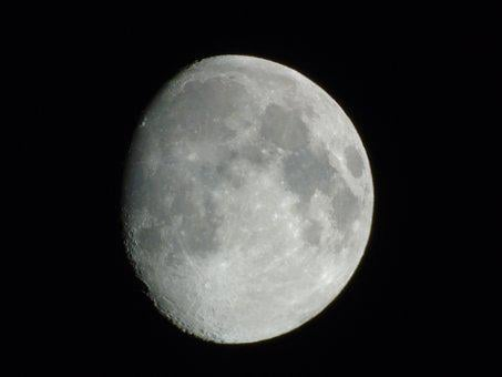Moon, Starry Sky, Photography, Chamber Month