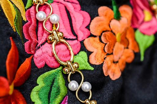 Mexico, Oaxaca, Handmade, Dress, Colorful, Embroidered
