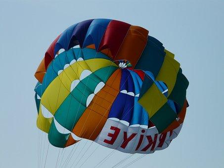 Screen, Parachute, Colorful, Parasailing