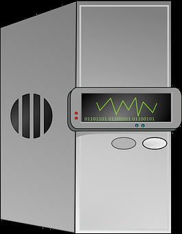 Computer, Cpu, Mainframe, Server, Gray Server