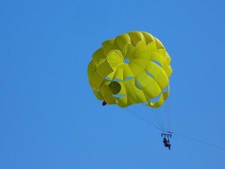 Parasailing, Controllable Parachuting, High, Parachute