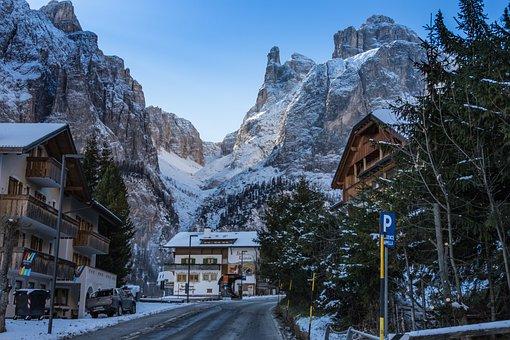 South Tyrol, Dolomites, Corvara, Sella Group, Mountains